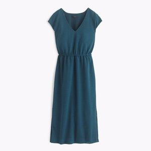J. Crew Perforated Side-Slit Midi Dress